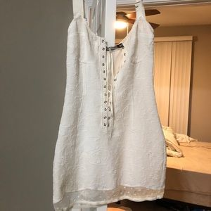 For Love And Lemons Dresses - For Love And Lemons White Lace Up Dress sexy